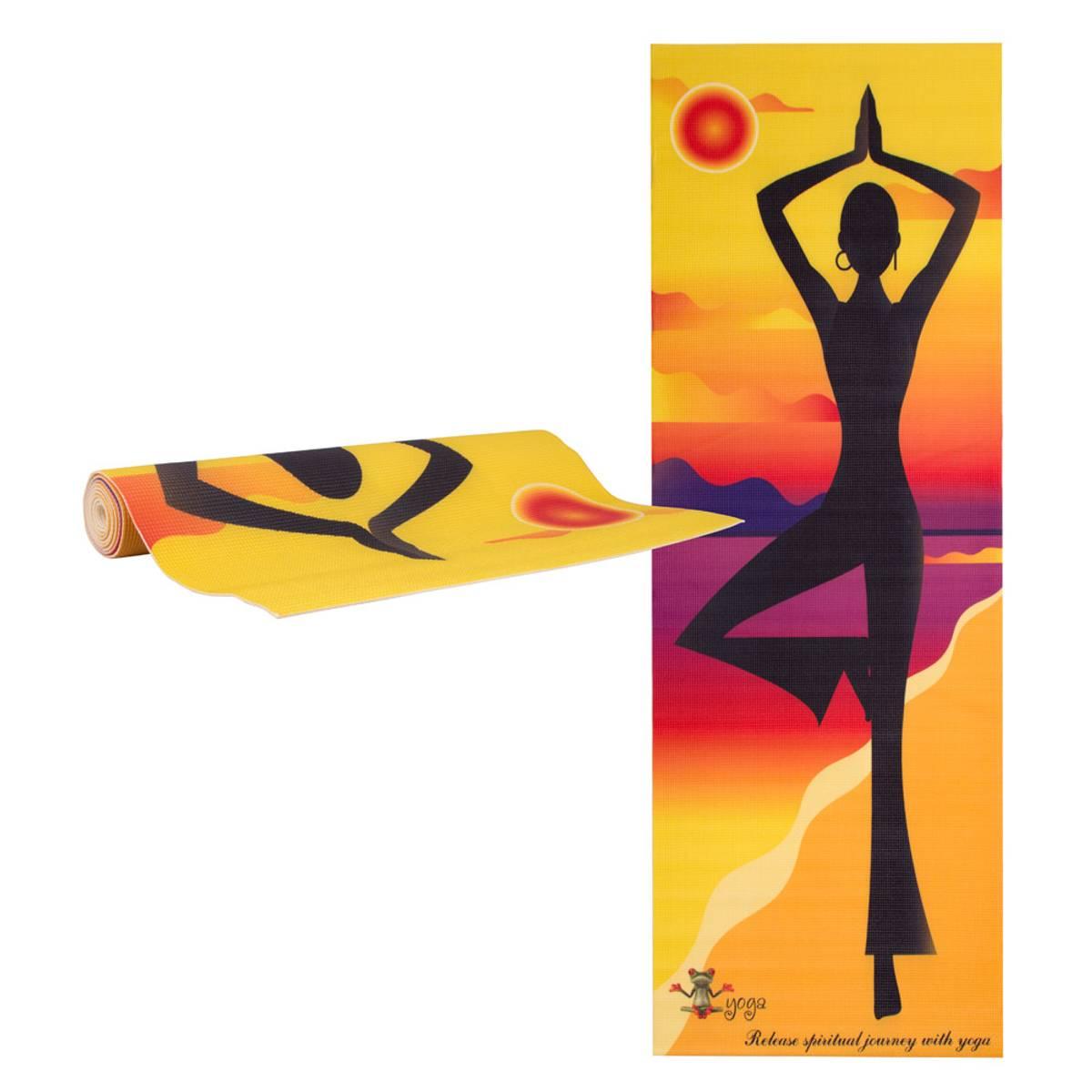 Yogamatte inSPORTline Medita - Yellow Bag