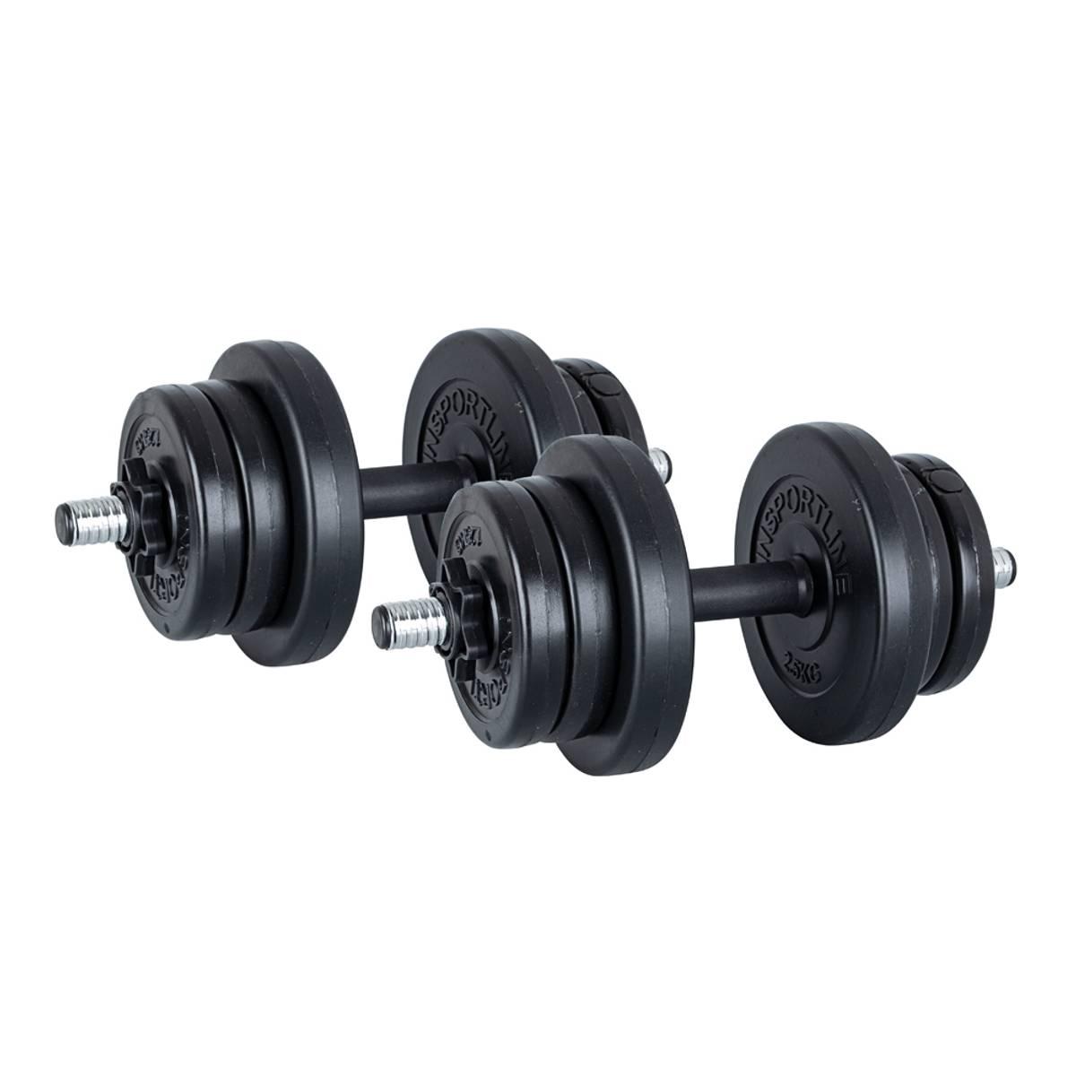 Justerbare manualer inSPORTline  2 x 3-10kg